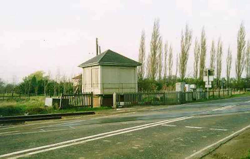 Cottage Lane Crossing signal box - still surviving in 2001