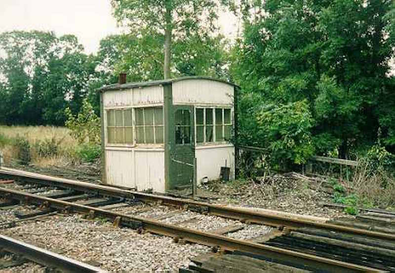 Midland Railway ground frame hut at Fiskerton Junction