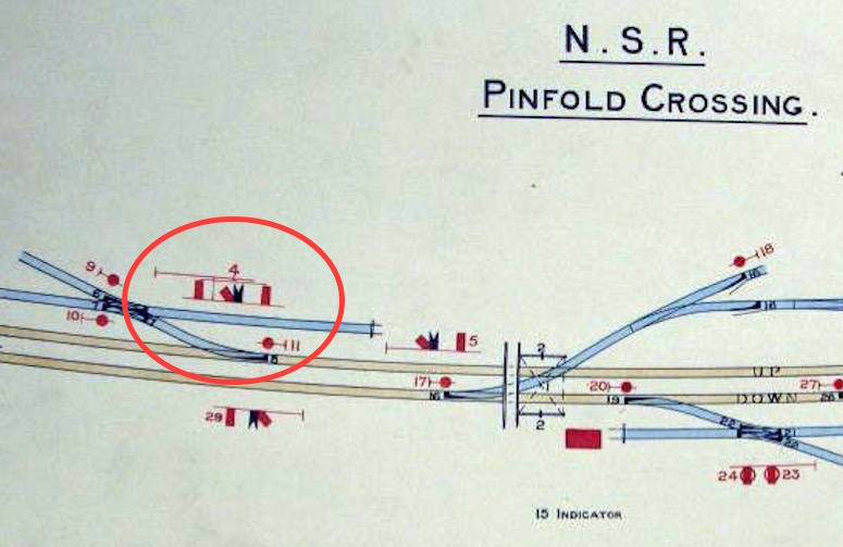 Extract from RAIL532/43 showing Pinfolrd No.4 signal